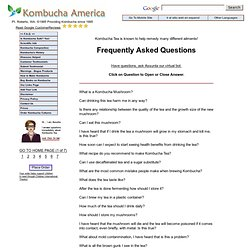 F.A.Q. - Kombucha America - Frequently Asked Questions Page
