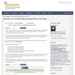 Survey on Crowdfunding Regulation in Europe