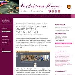 Klassens hemsida – nya möjligheter till kommunikation!