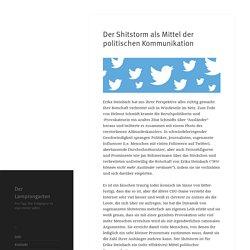 Der Shitstorm als Mittel der politischen Kommunikation