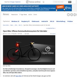 Open Bike: Offenes Kommunikationssystem für Fahrräder