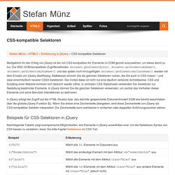 CSS-kompatible Selektoren – Stefan Münz