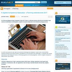 A digitális kompetencia fejlesztése - eTwinning webináriumok 2017