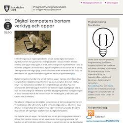 Digital kompetens bortom verktyg och appar