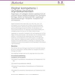 Digital kompetens i styrdokumenten