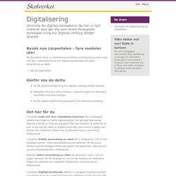 Kompetensutveckling inom digitalisiering