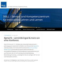 #gmw16 – Lernmitbringsel & more von einer Konferenz – SKILL – Service- und Kompetenzzentrum für Innovatives Lehren und Lernen