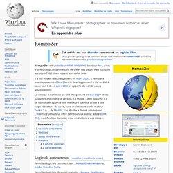 KompoZer éditeur html