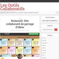 KomuniD. Site collaboratif de partage d'idées