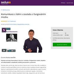 Komunikace s lidmi v souladu s fungováním mozku - Online kurz na Seduo.cz
