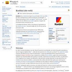 Konbini (site web)