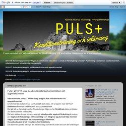 PULS+ : Puls+ 2016/17 visar positiva resultat på koncentration och uppmärksamhet!