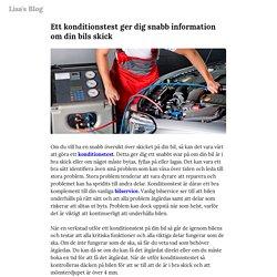 Ett konditionstest ger dig snabb information om din bils skick — Lisa's Blog