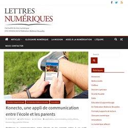 Konecto, une appli de communication entre l'école et les parents