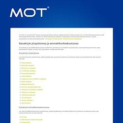 MOT - sanakirja, konekäännös, kielentarkistus, kieliopas