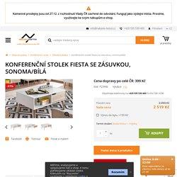 Konferenční stolek Fiesta se zásuvkou, sonoma/bílá-www.nabytek-helcel.cz