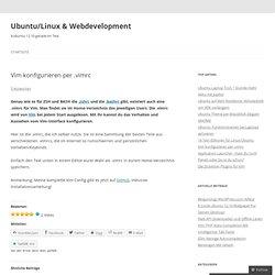 Vim konfigurieren per .vimrc « Ubuntu Linux Blog