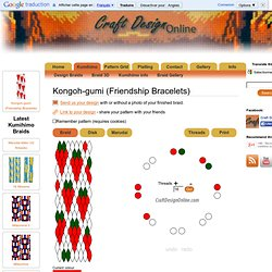 Design your own kongoh gumi friendship bracelet