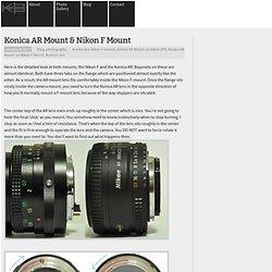 Konica AR Mount & Nikon F Mount