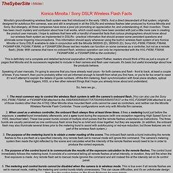 Konica Minolta / Sony DSLR Flash Facts