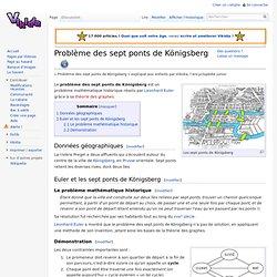 Problème des sept ponts de Königsberg