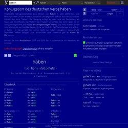 Deutsche Verben konjugieren