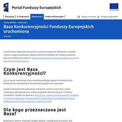 Baza Konkurencyjności Funduszy Europejskich uruchomiona - Ministerstwo Rozwoju