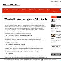 Wywiad konkurencyjny w 5 krokach - Rynek Informacji