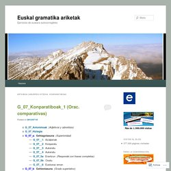 Euskal gramatika ariketak