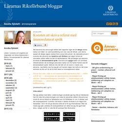 Konsten att skriva referat med ämnesrelaterat språk
