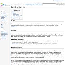 Konstruktivismus – WikiKnihovna