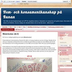 Hem- och konsumentkunskap på Runan: Mästerkocken (åk 8)