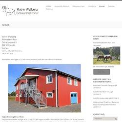 Kontakt – Katrin Wallberg på Ridakademi Norr