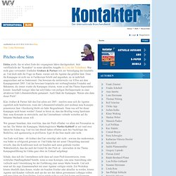 Kontakter: Kontakter-Blog: Pitches ohne Sinn