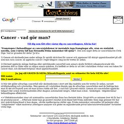 Cancer - konventionell och alternativ behandling