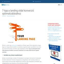 7 tipp a landing oldal konverzió optimalizálásához