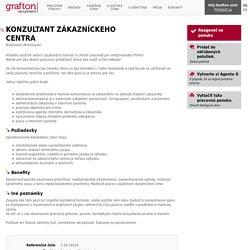KONZULTANT ZÁKAZNÍCKEHO CENTRA