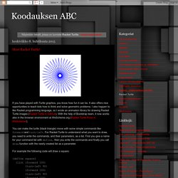 Koodauksen ABC: Racket Turtle