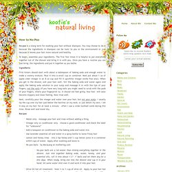 s Natural Living » How to No-Poo