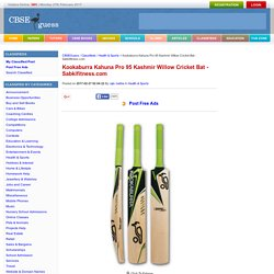 Kookaburra Kahuna Pro 95 Kashmir Willow Cricket Bat - Sabkifitness.com Health & Sports By rajiv metha