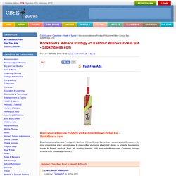 Kookaburra Menace Prodigy 45 Kashmir Willow Cricket Bat - Sabkifitness.com Health & Sports By rajiv metha
