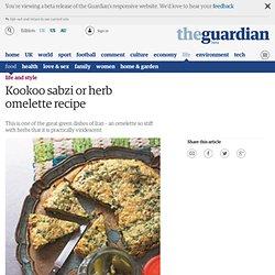 Kookoo sabzi or herb omelette recipe