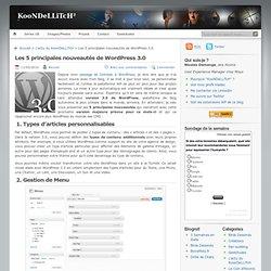 Les 5 principales nouveautés de Wordpress 3.0
