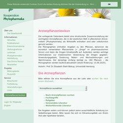 Arzneipflanzenlexikon - Kooperation Phytopharmaka
