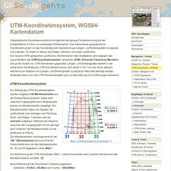 GPS/UTM-Koordinatensystem,WGS84- Kartendatum
