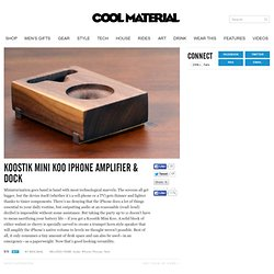 Koostik Mini Koo iPhone Amplifier & Dock