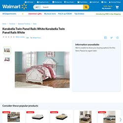 Korabella Twin Panel Rails White Korabella Twin Panel Rails White - Walmart.com