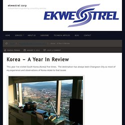 Korea – A Year In Review