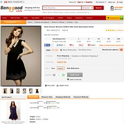 New Korean Women Chiffon Slim Vest Sleeveless Dress Free Shipping! - US$24.38
