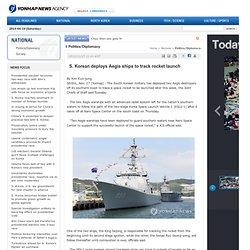 Korean deploys Aegis ships to track rocket launch